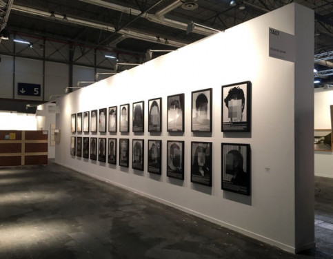 "The exhibit ""political prisoners of contemporary Spain"" by artist Santiago Sierra (by Galeria Helga de Alvear)"