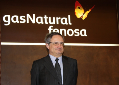 Gas Natural Fenosa's CEO Rafael Villaseca, presenting the company's results for 2013 (by J. Molina)