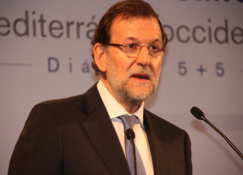 The Spanish Prime Minister, Mariano Rajoy, last October in Barcelona (by J. Molina)