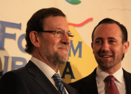 The Spanish Prime Minister Mariano Rajoy (left) and José Ramón Bauzá (right) in Madrid (by ACN)