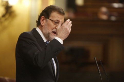 The Spanish PM, Mariano Rajoy, a few days ago at the Spanish Parliament (by ACN)