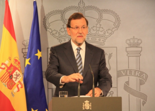 The Spanish Prime Minister, Mariano Rajoy, announcing the appeals against the Catalan measures (by R. Pi de Cabanyes)