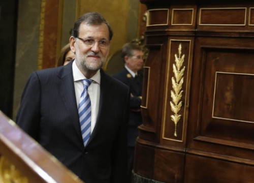 The Spanish PM, Mariano Rajoy, this week at the Spanish Parliament (by La Moncloa / ACN)