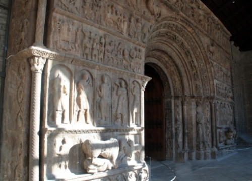 "The porch, from the XII century, is usually described as a ""bible on stone"" (by ACN)"