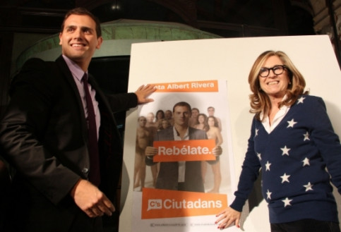 Albert Rivera and the number 2 for Barcelona, Carmen de Rivera (by ACN)
