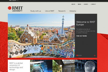 RMIT Europe's website, announcing its arrival at Barcelona (by RMIT University / ACN)