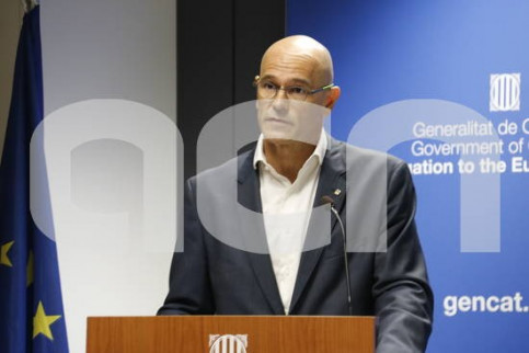 The Catalan Minister of Foreign Affairs, Raül Romeva, in Brussels (by ACN)