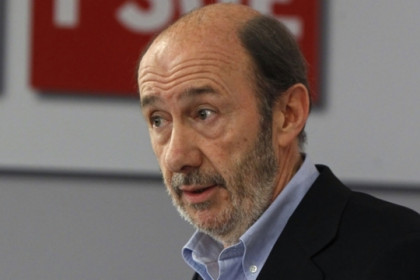 The PSOE candidate for the Spanish general election, Alfredo Pérez Rubalcaba (by ACN)