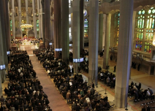 The state funeral at the Sagrada Família Basilica (by EFE Pool)