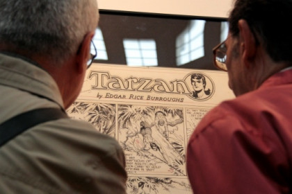 One of the fair's main exhibitions is devoted to Tarzan (by E. Rosanas)