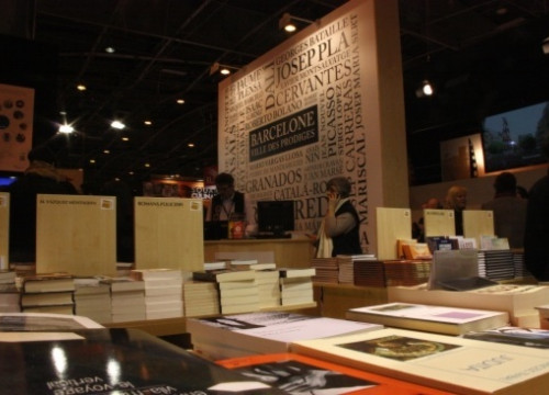 Barcelona's stand at Paris' Salon du Livre (by V. Gumà)