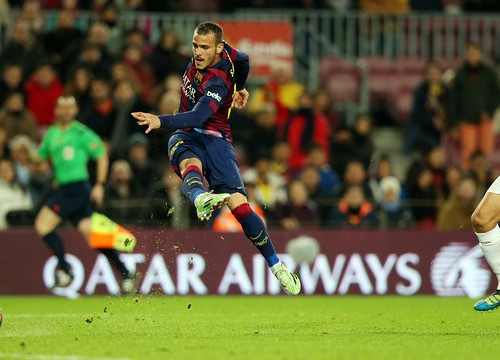 Sandro scored one goal against a honourable Huesca side (by FC Barcelona)