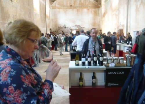A wine show at Priorat County's Scala Dei Chartreuse (by ACN)