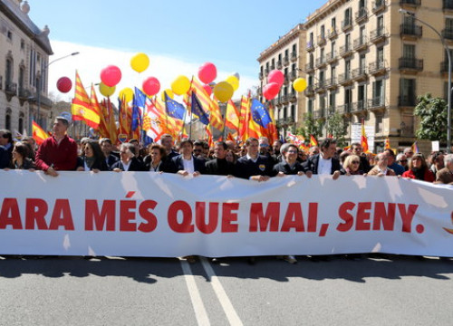 Pro-Spain demonstration in Barcelona (by Jordi Bataller)