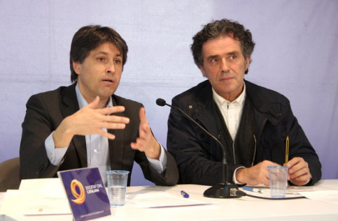 The president and the vice president of Societat Civil Catalana (by Laura Batlle)