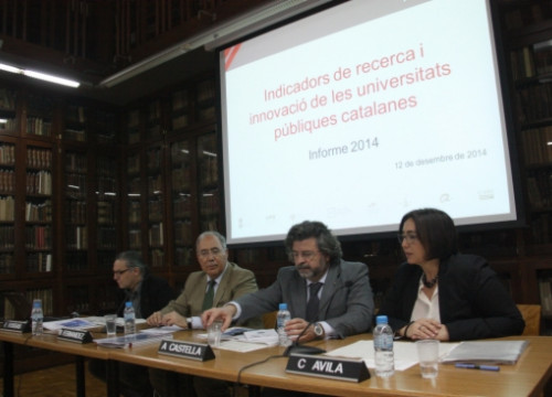 The presentation of the report on Catalonia's scientific production (by ACN)