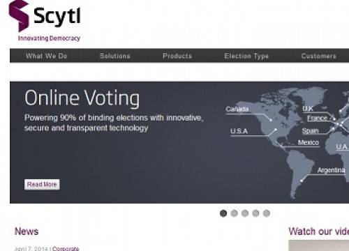 Scytl's website (by Scytl)
