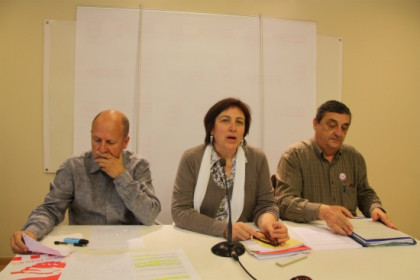 The union representatives from UGT, CCOO and IAC (by E. Romagosa)