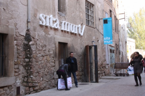 Sita Murt's temporary shop at Igualada's Barri del Rec (by M. Martí)