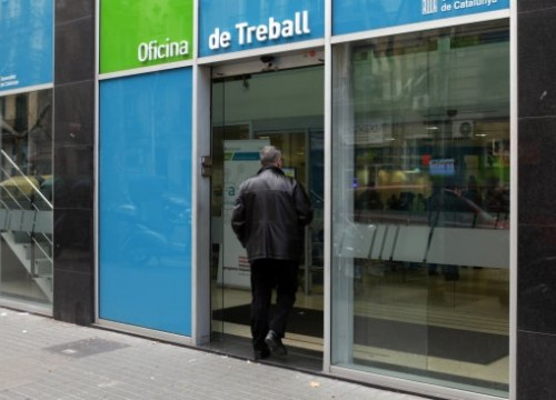 The entrance to an office of the Catalan Public Employment Service (by O. Campuzano)