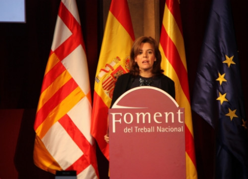 The Spanish Deputy Prime Minister, Soraya Sáenz de Santamaría at Foment's event (by J. Molina)