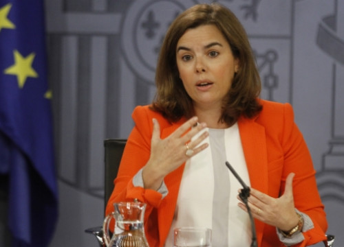 The Spanish Deputy Prime Minister, Soraya Sáenz de Santamaría, explaining the new bill (by ACN)