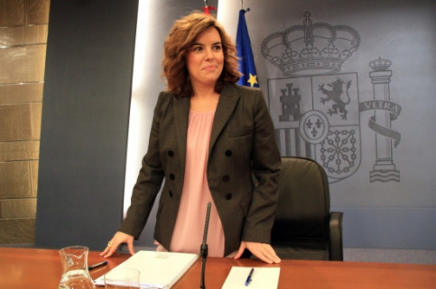 The Spanish Vice President and Government's Spokesperson Soraya Sáenz de Santamaría (by R. Pi de Cabanyes)