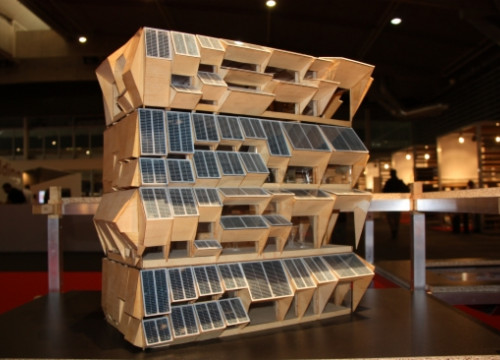 A sustainable building model on show at Barcelona's 2015 Construmat trade fair (by ACN)
