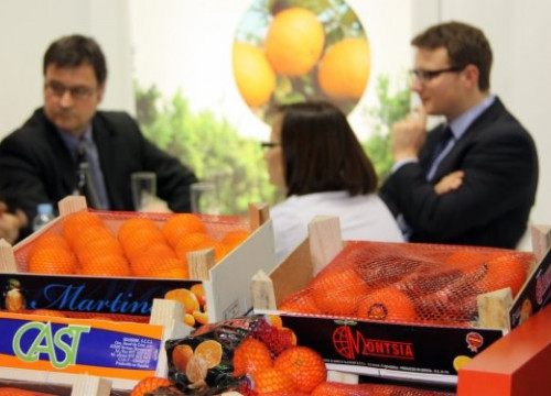Catalan oranges showed at the Berlin stand (by N. Pérez)