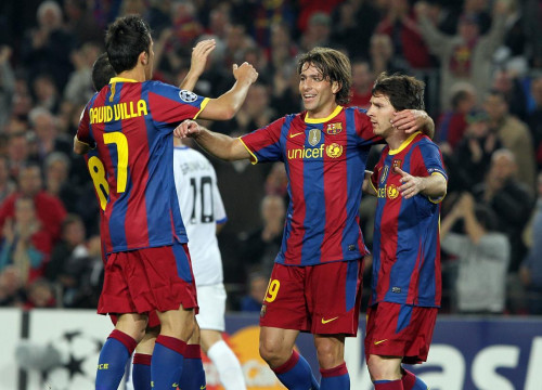 An image from the last game against the Danes (by FC Barcelona)