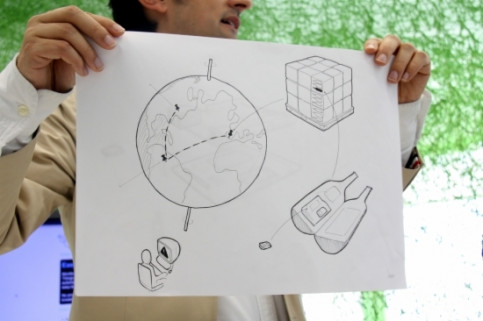 A visual explanation of Telefónica's Thinking Things project, created in Barcelona (by A. G. Soler)