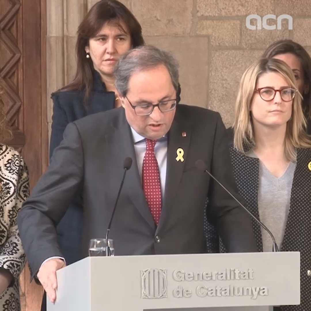 President calls world to 'join Catalan people' in independence trial