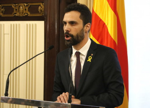Catalan Parliament president, Roger Torrent (by Rafa Garrido)