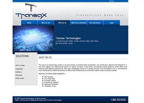 Transax's website (by Transax)