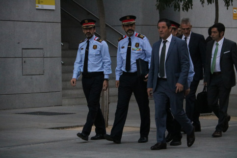 Catalan police chief, Josep Lluís Trapero, appearing today before court  in Madrid (by ACN)