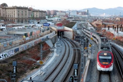 Works at the future Sagrera's train station in Barcelona (by O. Campuzano)