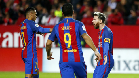 The front three all played a key role in the two goals (by FCB)