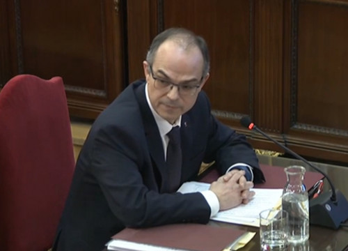 Former Catalan minister Jordi Turull at Spain's Supreme Court