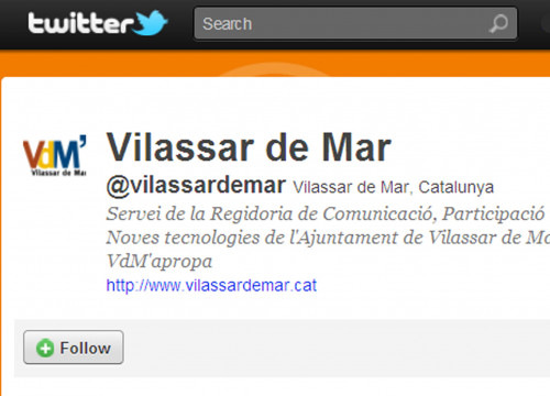 The Twitter of Vilassar de Mar Town Hall (by Twitter)