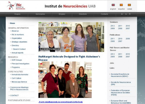UAB Neuroscience Institute's website (by UAB / ACN)