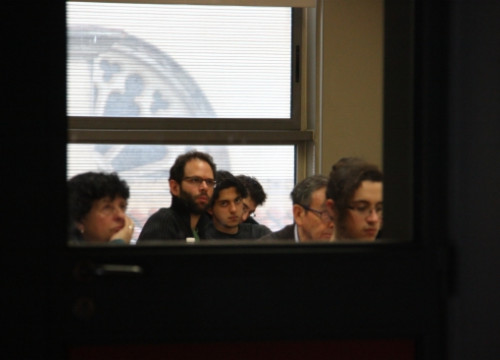 A class tought at the UB's Philosophy Faculty (by E. Rosanas)