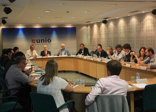 The Exective Board of UDC, on Monday (by P. Mateos)