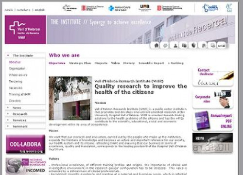The website of the Vall d'Hebron Research Institute (by VHRI / ACN)