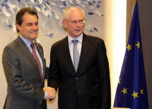 Artur Mas (left) with Herman Van Rompuy (right) (by A. Segura)