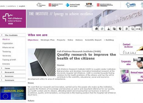 The website of the Vall d'Hebron Research Institute (by VHIR / ACN)
