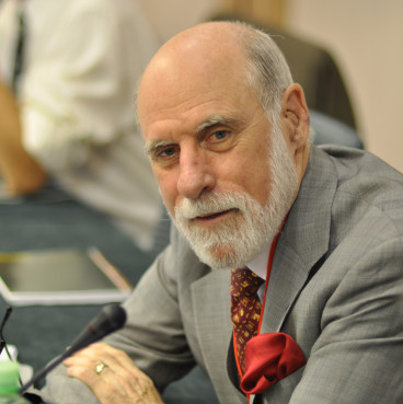 The engineer Vinton Cerf in an event in 2010 (by Veni Markovski/Wikipedia)