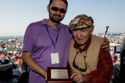 Joan Anton Cararach (left) and George Wein (right) (by Doug Mason)