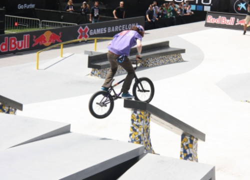 A BMX rider at the X Games Barcelona (by G. Sánchez)