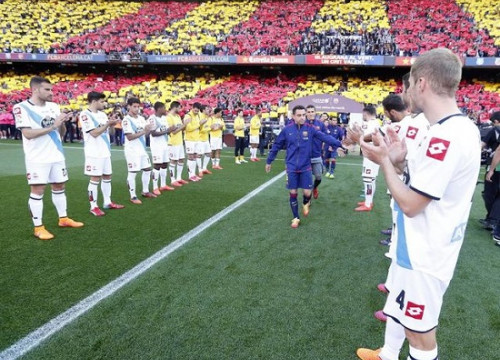 Xavi Hernández played his last Spanish League game as Barça player on Saturday (by FC Barcelona)