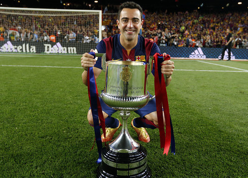 Xavi played his last game as a Barça player at the Camp Nou on Saturday (by FC Barcelona)